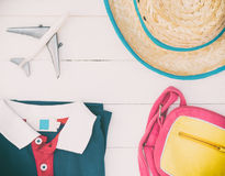 Boy travel fashion and accessories Stock Image