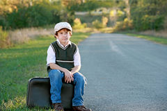 Boy Traveling Royalty Free Stock Images