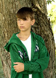 Boy by Tree Royalty Free Stock Image