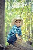 Boy Tree Stock Photo