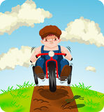 Boy on trike Royalty Free Stock Photography