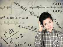 Boy in trouble. To solve problems Royalty Free Stock Images