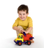 Boy and truck Royalty Free Stock Photo