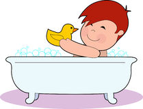 Boy in Tub Royalty Free Stock Image