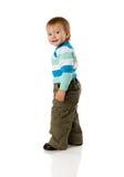 Boy turning back stock photography