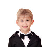 Boy with tuxedo and bow tie Stock Photos