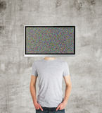 Boy with TV Stock Photos