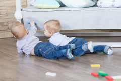 Boy twins playing Stock Photography