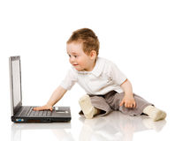 Boy typing Royalty Free Stock Photos