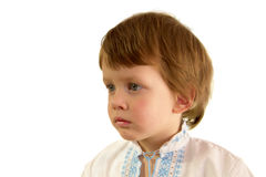 Boy in the Ukrainian embroidered shirt Stock Image