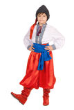 Boy in the Ukrainian national costume. Isolated Stock Photos