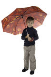 The boy with an umbrella Stock Photo