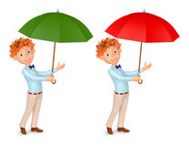 Boy with an umbrella Stock Photography