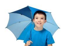 Boy with umbrella Stock Photo