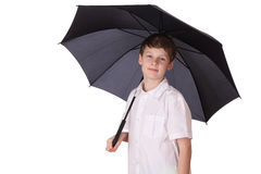 Boy with umbrella Royalty Free Stock Image