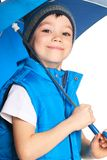 Boy with umbrella Royalty Free Stock Photos