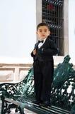 Boy un tuxedo Stock Photography