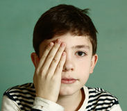 Boy under ophthalmologist examination Stock Photo