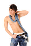 Boy undressed up to a belt Royalty Free Stock Images
