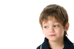 Boy upset Royalty Free Stock Images