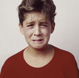 Boy upset or sick_1 Royalty Free Stock Photo