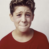 Boy upset or sick_2 Stock Photo