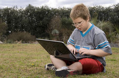 Boy Using a Computer Royalty Free Stock Images