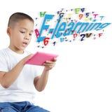 Boy using digital tablet Stock Photos