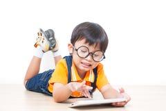 Boy using laptop computer Stock Photography