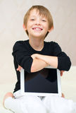Boy using tablet computer Royalty Free Stock Images