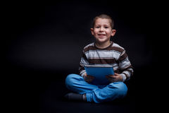Boy using tablet Royalty Free Stock Images