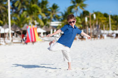Boy on vacation Stock Photo