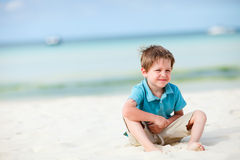 Boy on vacation stock photos