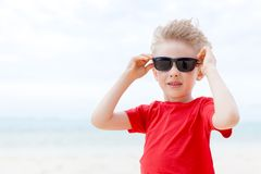 Boy at vacation Royalty Free Stock Photos