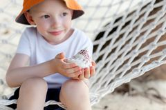 Boy at vacation Stock Image