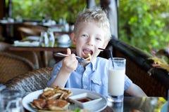 Boy at vacation Stock Photo
