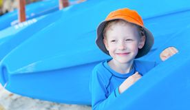 Boy at vacation Royalty Free Stock Images