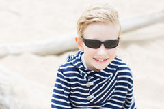 Boy at vacation Stock Images