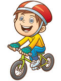 Boy. Vector illustration of Cartoon boy on a bicycle royalty free illustration
