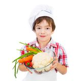 Boy with vegetables Royalty Free Stock Image