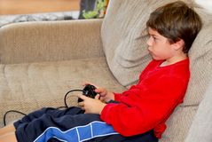 Boy video game Royalty Free Stock Images