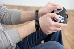 Boy videogame addiction Stock Image
