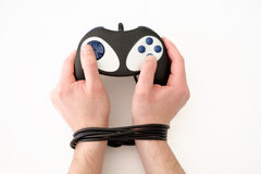 Boy videogame addiction Stock Images