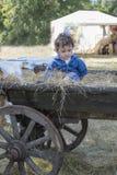 Boy  in the village Stock Photo