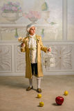 Boy in vintage clothes Royalty Free Stock Images