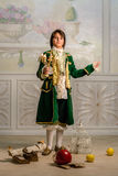 Boy in vintage clothes Royalty Free Stock Image