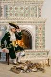Boy in vintage costume Stock Photo