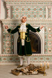 Boy in vintage costume Royalty Free Stock Photography