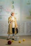 Boy in vintage costume Stock Photos