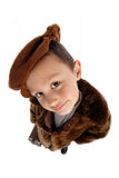 Boy in vintage outfit Royalty Free Stock Photos